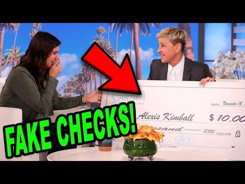 Ellen Degeneres Responds To Fake Checks Accusations...