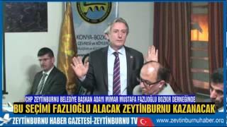 CHP Zeytinburnu Belediye Başkan Adayı Mimar Mustafa Fazlıoğlu Konya Bozkır Derneğinde
