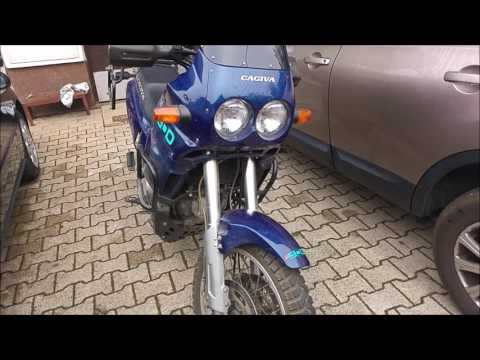 Cagiva Elefant e900 cold start & sound