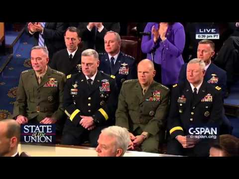 Joint Chiefs diss Obama at the State of the Union (2016)