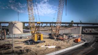 Gerald Desmond Bridge Replacement Project Foundation Construction Time Lapse