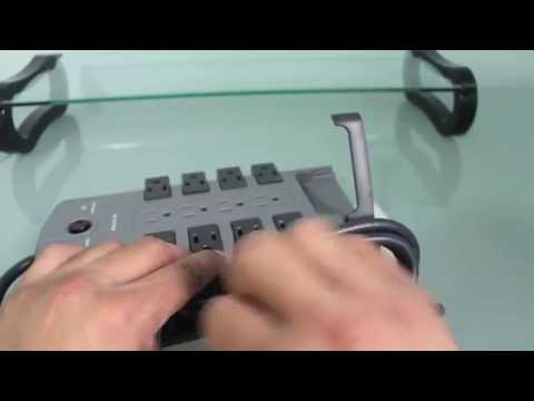 Belkin 12 Outlet Pivot Plug Surge Protector with 8 Foot Cord Unboxing & Set Up