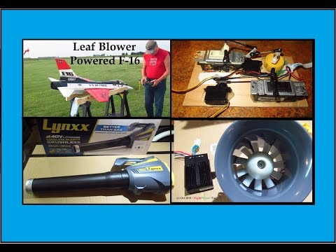 Leaf Blower Powered Byron F-16. Did it work? Plus original EDF Fan failure analysis.