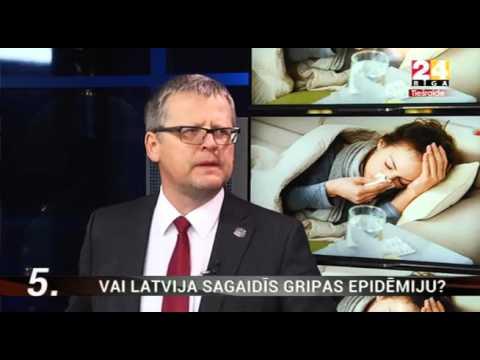 """Veselības ministrs Dr. Guntis Belēvičs TV24 """"Ziņu Top 5"""" - Vai Latvija sagaidīs gripas epidēmiju?"""