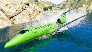 GTA 5 Airplane Engine Failures - Emergency Landings