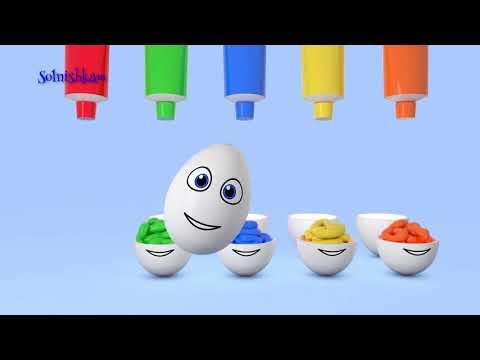 Яйца с сюрпризом Учим цвета Surprise eggs Развивающий мультик для детей (видео)