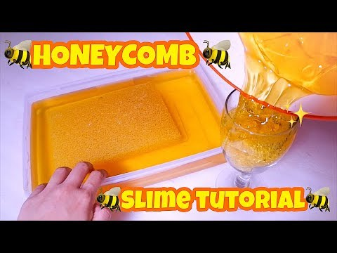 REAL ? HONEYCOMB SLIME SCENTED TUTORIAL EASY - SLIME HIGHQUALITY MAKING SLIME HONEY [ INDONESIA ]
