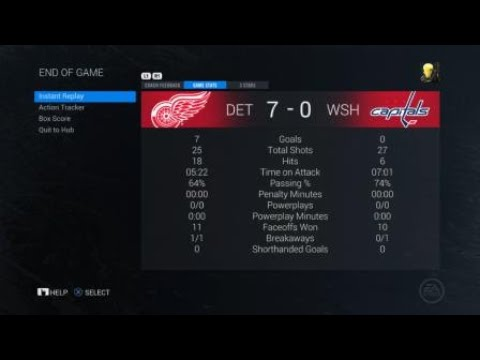 Red Wings vs Capitals 18/19