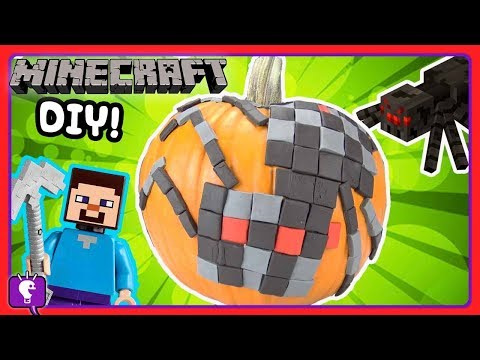 Play doh - MINECRAFT Play-Doh SPIDER with Pumpkin Hunt by HobbyKidsTV