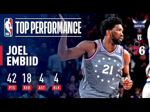 Video: Joel Embiid Fills Up the Stat Sheet! 42 Pts 18 Rebs! | November 9, 2018