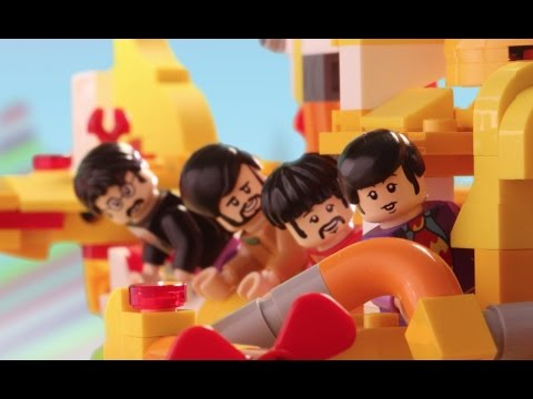 The Beatles' LEGO Yellow Submarine vs. the Sea Monster