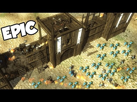 EPIC Castle Siege!  A NEW Kingdom (Veil of Crows Gameplay - Mount and Blade + Sandbox RTS) (видео)