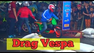 Video Drag Motor Bikin Geleng geleng VESPA VS NINJA dan Jupiter JOSSSS MP3, 3GP, MP4, WEBM, AVI, FLV November 2017