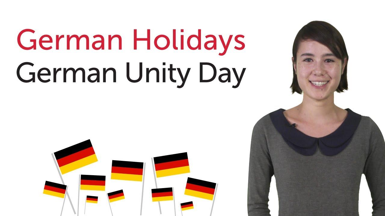 Learn German Holidays – German Unity Day
