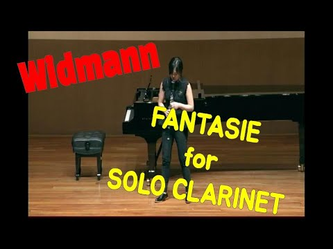 See video  Widmann Fantasie for Solo Clarinet