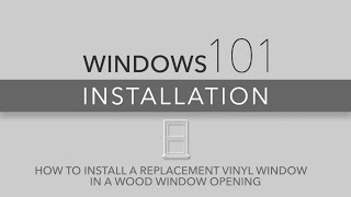 Wood Window Opening Installation 101