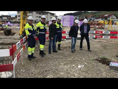 Die Grundsteinlegung für das neue Feuerwehrmagazin Konolfingen. (Video: Res Reinhard)