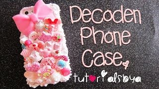 ♡ How to Decoden a Phone Case ♡ {Making of Pink Sweets Case} - YouTube