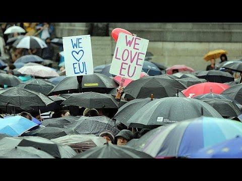Λονδίνο: Συγκέντρωση υπέρ του Brexit στην πλατεία Τραφάλγκαρ
