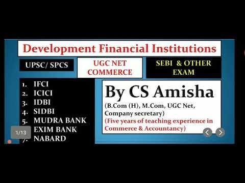 DFI (Development Financial Institution) by CS Amisha