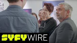 "We gathered a group of artists who are also Luc Besson fans and asked them to create works inspired by Luc's film Valerian and the City of a Thousand Planets. And then Luc showed up. See for yourself.►►Subscribe To SYFY Wire: http://po.st/SubscribeSYFYWireMore About Valerian: Valerian and the City of a Thousand Planets is a 2017 science fiction action film written and directed by Luc Besson and co-produced by Besson and Virginie Besson-Silla. The film is based on the French science fiction comics series Valérian and Laureline, written by Pierre Christin and illustrated by Jean-Claude Mézières. It stars Dane DeHaan as Valerian and Cara Delevingne as Laureline, with Clive Owen, Rihanna, Ethan Hawke, Herbie Hancock, Kris Wu and Rutger Hauer in supporting roles.Watch Videos from SYFY WIRE ►►  http://po.st/SYFYWIRE_videosSYFY WIRE is a fan-first genre news and editorial destination dedicated to covering science fiction and nerd culture across TV, Film, Books, Comics, space and technology with up-to-the-minute news, in-depth analysis and content that drives conversation and debate.Watch ""Everything You Didn't Know"" Videos ►► http://po.st/SYFYWIRE_EYDKUncover all the easter eggs, references, and fun facts from classic movies, shows, and comic books.Watch ""Lightning Round"" videos ►► http://po.st/SYFYWIRE_LightningRoundLearn everything there is to know about classic movies, shows, and comic books in just two minutes.Watch ""In 2 Minutes"" Videos ►► http://po.st/SYFYWIRE_In2MinLearn everything there is to know about classic movies, shows, and comic books in just two minutes.Watch Lists and Rankings Videos ►►http://po.st/SYFYWIRE_ListsAndRankingsWe love lists. Check out our favorite movies, shows, comic books.Watch Videos about Movies ►► http://po.st/SYFYWIRE_MoviesLearn even  about your favorite movies with SYFY WIRE.Watch Movie Sneak Peeks ►► http://po.st/SYFYWIRE_MovieSneakPeeksCatch these exclusive sneak peeks of upcoming movies.Watch ""Drawing Famous Characters"" Videos ►► http://po.st/SYFYWIRE_CharacterDrawingsWatch comic book legends bring iconic characters to life.Watch Celebrity Interviews ►►http://po.st/SYFYWIRE_CelebrityInterviewsCatch SYFY WIRE's exclusive interviews with your favorite celebrities.Watch Writer & Creator Interviews ►► http://po.st/SYFYWIRE_CreatorInterviewsGet the inside scoop from the writers and creators of your favorite shows, movies, and comic books. Watch Videos from San Diego Comic-Con 2017 ►► http://po.st/SYFYWIRE_SDCC2017Catch all of the exciting news from San Diego Comic-Con 2017 with SYFY WIRE. About SYFY WIRE: SYFY WIRE is a fan-first genre news and editorial destination dedicated to covering science fiction and nerd culture across TV, Film, Books, Comics, space and technology with up-to-the-minute news, in-depth analysis and content that drives conversation and debate.Check out exclusive SYFY WIRE content:Visit SYFYWIRE.com: po.st/SYFYWIREFind SYFYWIRE on Facebook: po.st/LikeSYFYWIREFollow SYFYWIRE on Twitter: po.st/FollowSYFYWIREAbout SYFY: It doesn't matter if you're into space outlaws, exiled dragon queens, or survivors of the zombie apocalypse. If you love it, you're one of us.Check out exclusive SYFY content: Watch SYFY on YouTube: https://www.youtube.com/c/SYFYSubscribe to SYFY on YouTube: http://po.st/SubscribeToSYFYVisit SYFY.com: http://bit.ly/VisitSYFYFind SYFY on Facebook: http://bit.ly/LikeSYFYFollow SYFY on Twitter: http://bit.ly/FollowSYFYFollow SYFY on Google+: http://bit.ly/PlusSYFYFollow SYFY on Instagram: http://bit.ly/InstaSYFYFollow SYFY on Tumblr: http://bit.ly/TumblrSYFYValerian Director Luc Besson Surprises Fans  SYFY WIREhttps://www.youtube.com/c/SYFYWIRE"