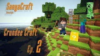 Minecraft Crundee Craft 2. rész Tinkeres szerszámok, A Creeper virágot ültet