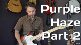 How To Play Purple Haze Solo by Jimi Hendrix - Guitar Lesson Part 2