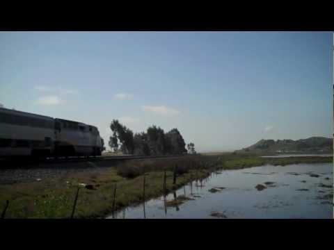 Amtrak Capitol Corridor #724 near Suisun-Fairfield, CA - 4/15/12