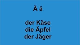 ABC - Deutsch lernen - Umlaute und einige wichtige Buchstabenv...