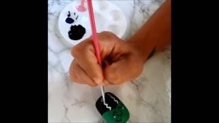 Painting Halloween Kawaii Cake Pops