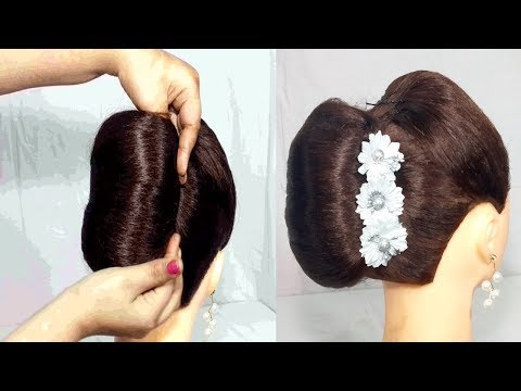 Hairstyles for short hair - Very Easy french roll Hairstyles for party  French Bun Hairstyles 2019 for girls  hair style girl