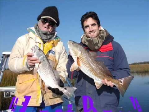 Brians Carolina Beach Birthday Redfish onboard the Redfish Explorer.