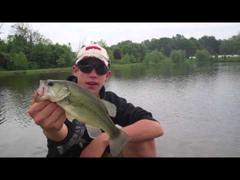 Fishing michigan bass fishing at a new pond for Bass pond construction