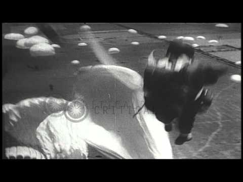 US Army airborne infantry training in 1941, before US entry into World War II. HD Stock Footage