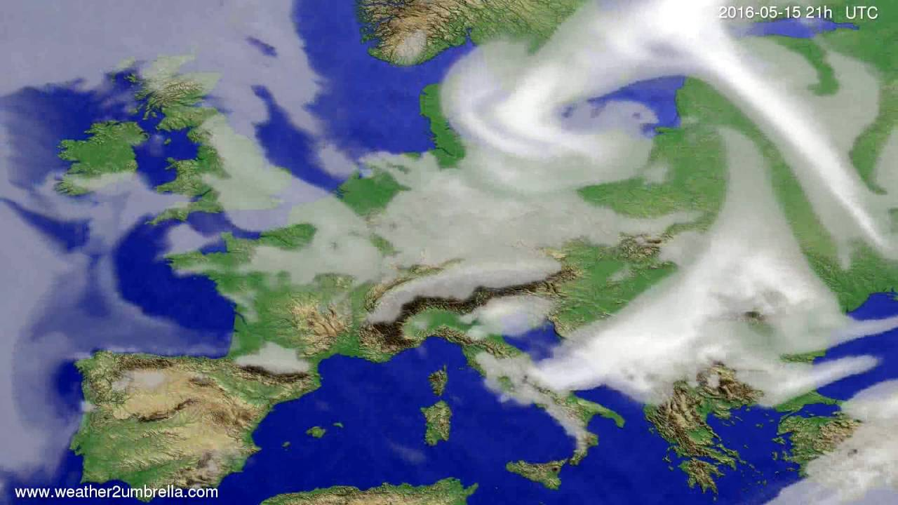 Cloud forecast Europe 2016-05-12