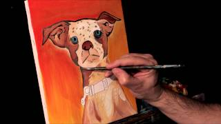 Cute Dog Painting TIMELAPSE SPEED ART by RAEART