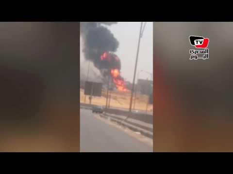 انفجار خط غاز شارع التسعين بالتجمع الخامس