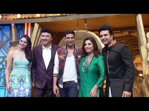 Akshay And Tamannah On Set Of Entertainment Ke Liye Kuch Bhi Karega