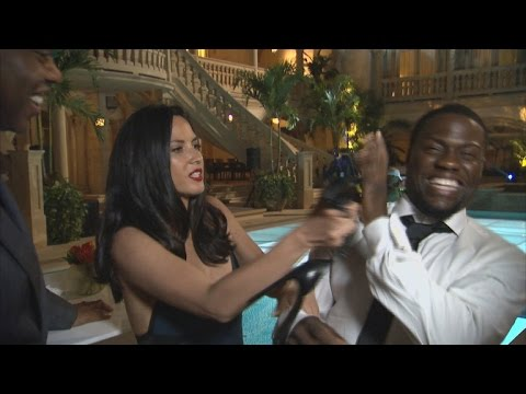 Kevin Hart and Olivia Munn Are Workout Fanatics on Set of 'Ride Along 2'