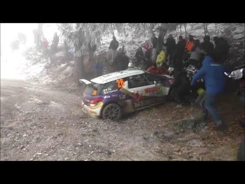 Sortie de route - Felipe Re DS3 R5 - Rallye Monté-Carlo 2015