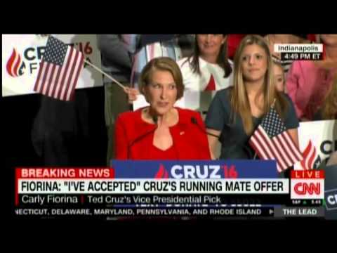 Crazy Carly Fiorina Cracks Up and Starts Singing During Her VP Acceptance Speech