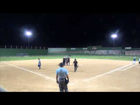 Umpire ends softball game after being intentionally hit with pitch