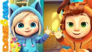 Video 🎨 Learn Colors with Dave and Ava | Nursery Rhymes and Kids Songs 🎨 MP3, 3GP, MP4, WEBM, AVI, FLV Agustus 2018