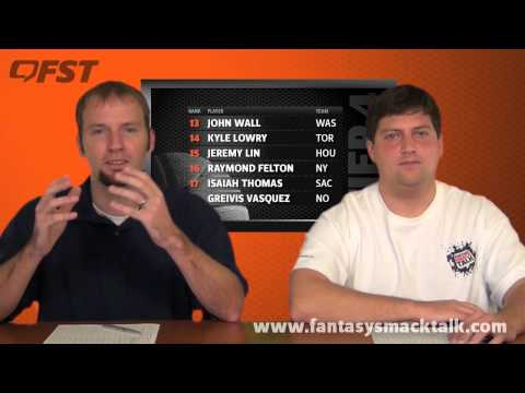 2012-2013 Fantasy Basketball Point Guard Tiers and Rankings