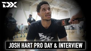 Josh Hart NBA Pro Day Workout and Interview