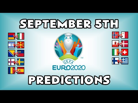 EURO 2020 QUALIFYING MATCHDAY 5 - PART 1 - PREDICTIONS