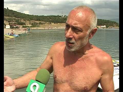 Групповой переплыв Тбилисского моря стилем Колхури со связанными руками и ногами.