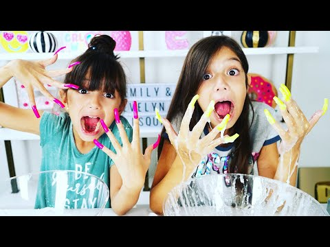 DON'T MAKE SLiME WiTH SUPER LONG ACRYLiC NAiLS CHALLENGE!