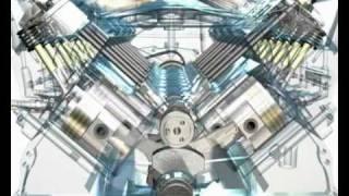 3D Animation Of A V8 ENGINE