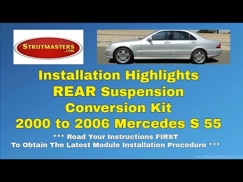 2000-2006 Mercedes S 55 Rear Air Suspension Kit Installation